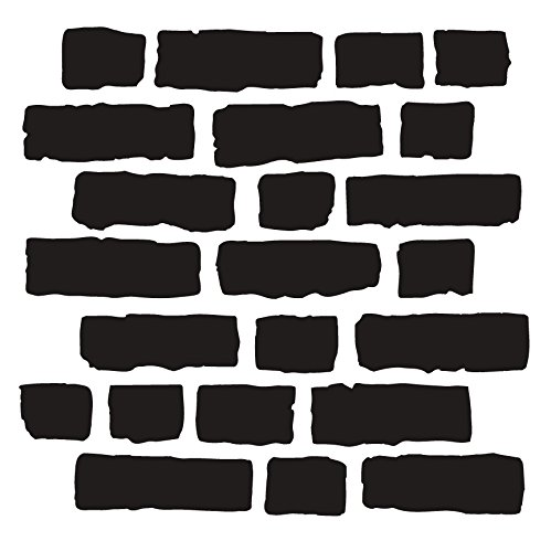 Rough Bricks Stencil by StudioR12 | Faux Finish Repeating Pattern Art - Small 6 x 6-inch Reusable Mylar Template | Painting, Chalk, Mixed Media | Use for Journaling, DIY Home Decor - STCL703_1
