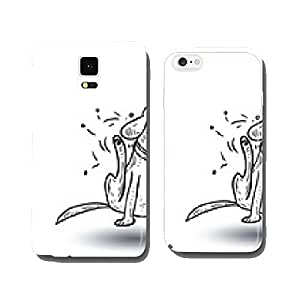 dog icon - vector illustration. cell phone cover case Samsung S6