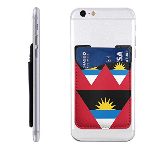Flag of Antigua and Barbudad Phone Card Holder Silicone 3M Adhesive Stick-on ID Credit Card Holder Phone Case Pouch Sleeve Pocket