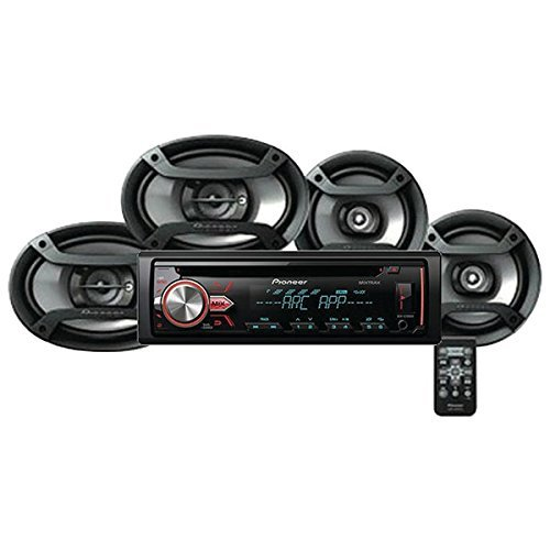 Pioneer DXT-X2969UI Car stereo with multicolour illumination RDS tuner, CD, USB and Aux-in, Two 6.5