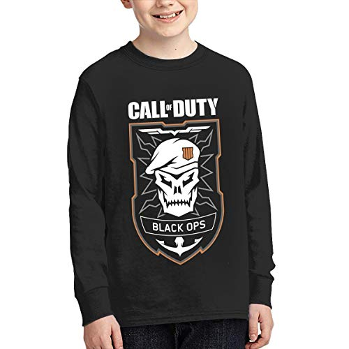 YouNood Youth Junior Classic Call of Duty Black Ops 4 Long Sleeve Tees XL Black