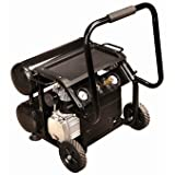 2 HP, 4 Gallon, 125 PSI Twin Tank Air Compressor with Wheels