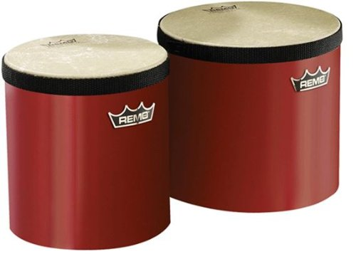 Remo Pre-Tuned Bongo Set - (Red) by Remo