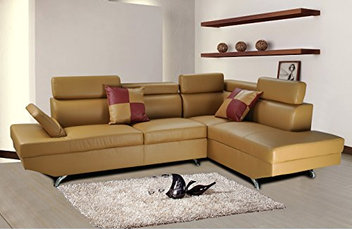 Lifestyle Furniture Genoa Butterscotch Right Hand Facing Sectional Sofa