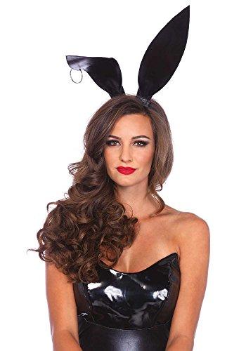 Leg Avenue Women's Bendable Bunny Ears Costume Accessory, Black -