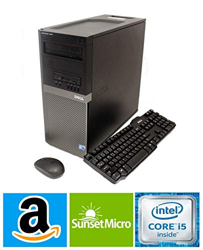 Dell Optiplex 790 Tower Desktop (Intel Quad Core i5 3.10GHz, AMD Radeon 1GB Graphics Card, 8GB RAM, 1TB HDD, Windows 10 Professional, WiFi) (Renewed)