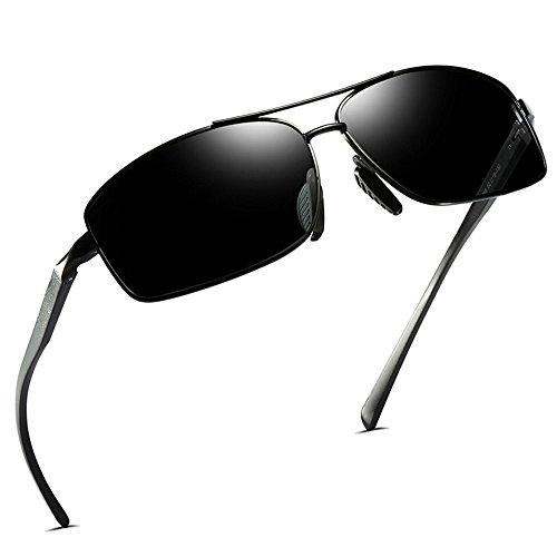 soleil polarisées pour pour Lunettes sport de pour soleil de hommes de classiques en Lunettes d'affaires métal noir Black hommes Lunettes hommes AY5WFxfUP