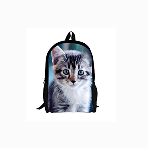 Bag 1 Animal Shoulders 6 Canvas Printing School Students grades 6833c Backpacks 3D Backpack wIqx5v60