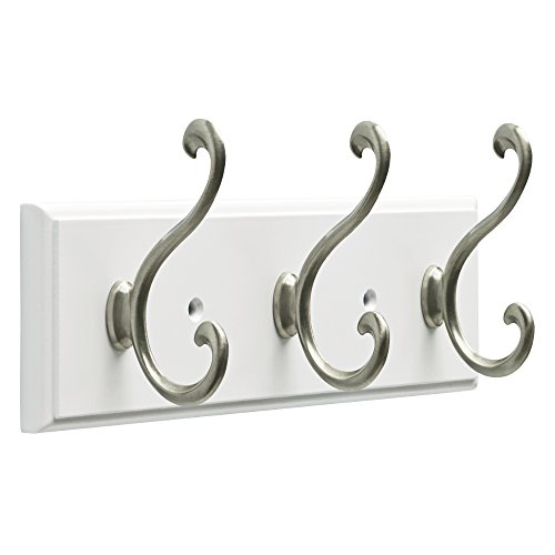 Franklin Brass Fbldsh3-Wse-R Rail with 3 Scroll Hooks, Satin Nickel