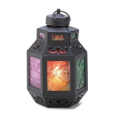 Moroccan Rainbows Delight Garden Hanging Candle Lantern