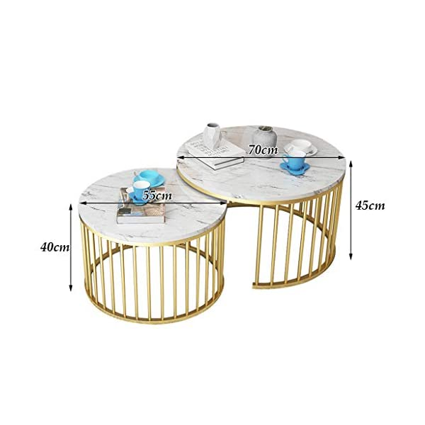 Cool Modern Round Coffee Table Set Nesting Side Tables Stackable Coffee End Tables With Metal Golden Frame Marble Deskop Nordic Living Room Furniture Inzonedesignstudio Interior Chair Design Inzonedesignstudiocom