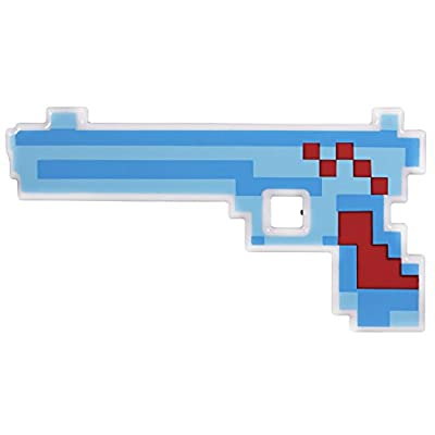 Windy City Novelties LED Light Up Pixel Toy Gun for Boys and Girls - Blue/Red - 8 Bit Pistol by Windy City Novelties