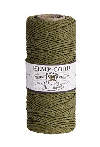- SAGE 1mm Polished Hemp Twine Hemptique Cord Macrame Bracelet Thread Artisan String 20lbs (205ft Spool)