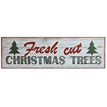 Fresh Cut Christmas Trees Sign.Amazon Com Wood Decor Fresh Cut Christmas Tree Sign