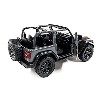 HCK Jeep Wrangler Rubicon 4x4 Convertible Off Road Exploration Diecast Model Toy Car Grey: Toys & Games