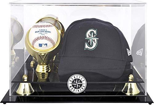 Seattle Mariners Acrylic Cap and Baseball Logo Display Case