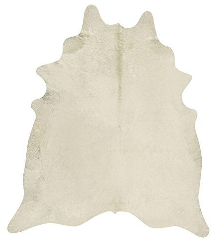 Fell Teppich Kuhfell Teppich in Champagner Beige Tapis en Peau de Vache Tappeto di pelle di mucca Champagne Rustic Cowhide Rug Alfombra Piel de Vaca (215 cm x 195 cm)