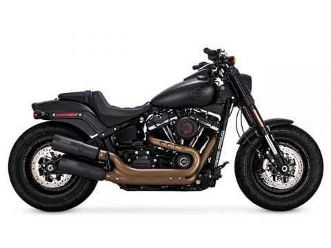 18-19 HARLEY FXBB: Vance & Hines Hi-Output Slip-On Exhaust (Black)