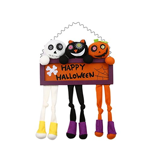 Halloween Door Decorations,OUTAD Happy Halloween Wall Decor Wood Signs Halloween Ghost Decorations for House,Halloween Party,Trick or Treat