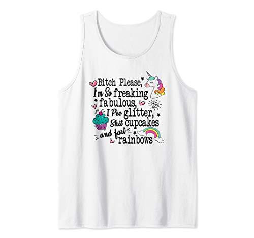 Bitch Please I'm So Fucking Fabulous Funny Unicorn T-shirt Tank Top