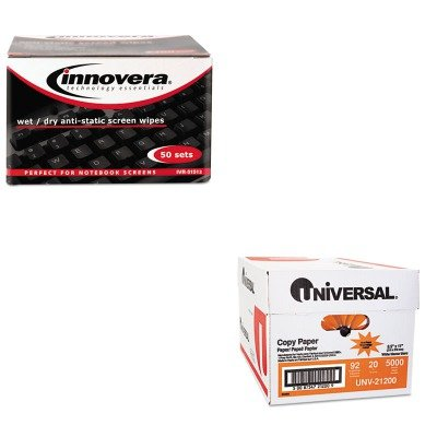 KITIVR51512UNV21200 - Value Kit - Innovera Anti-Static Wet/Dry Sachet Pairs (IVR51512) and Universal Copy Paper (UNV21200)