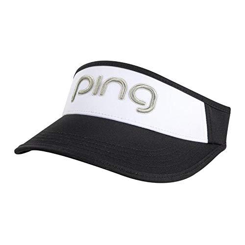 PING Ladies Visor Black/White/Silver by PING