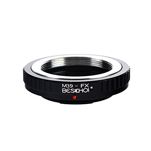 39mm Adapter (Beschoi Lens Mount Adapter for Leica M39 (39MM x1 Thread Leica Screw Mount) Lens to Fujifilm FX Mount X-Series Camera Body, Fits Fuji X-Pro1 X-Pro2 X-E1 X-E2 X-M1 X-A1 X-A2 X-A3 X-A10 X-M1 X-T1)