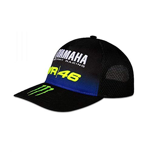 Valentino Rossi Yamaha Dual-Negro Solamente Mid Visor cap Hombre