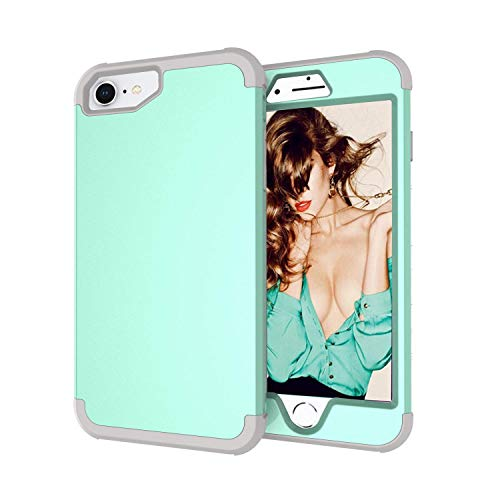 iPhone 8/iPhone 7/iPhone 6S/iPhone 6 Case,Yoomer 3 in 1 Shockproof & Scratch-Resistant Hybrid Impact Armor Defender Case Silicone Rubber Skin Hard Back Cover Combo Bumper Case for iPhone 8/7/6S/6 4.7