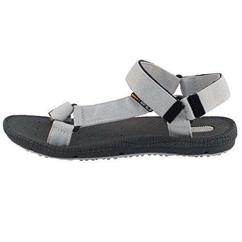 Gouden Duivenschoenen Gp5931 Lichtgewicht Verstelbare Outdoor Slingback Sandalen Voor Heren & Dames Grijs