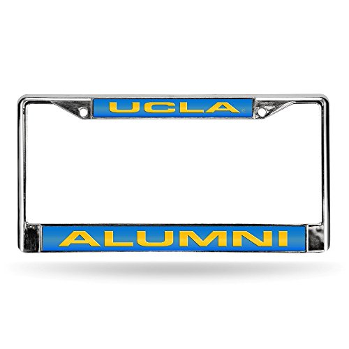 SHUIZHIQING NCAA UCLA Bruins Laser Cut Inlaid Standard License Plate Frame, Chrome, 6