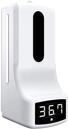 Elitte Kontaktloses Fieberthermometer Wandmontiertes Infrarot Thermometer Automatischer Desinfektionsspender 1000ml Smart Flüssigseifenspender Für Küche Und Bad Doppelkopf Sport Freizeit