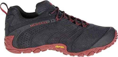 Merrell Chameleon II Leather J09383 Zapatos para hombre ,Zapatillas de senderismo, botas de montaña Negro (Black)