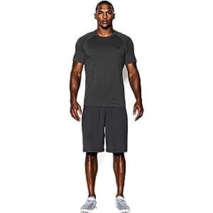 Under Armour Men's Tech Short Sleeve T-Shirt, Carbon Heather/Black, X-Small