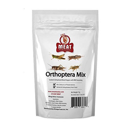 Meat Maniac BBQ Orthoptera Mix- Grasshoppers, Mole Crickets, Big Crickets & Small Crickets