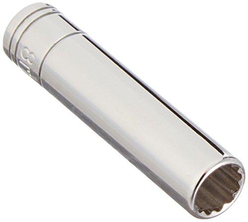 SK Hand Tool 44707 12 Point 1/4-Inch Drive Deep Socket, 8mm, Chrome ()