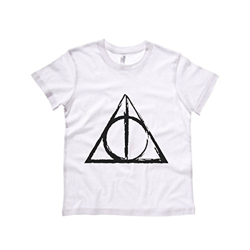 Moment Gear Kids' Deathly Hallows Sketch T Shirt Small White