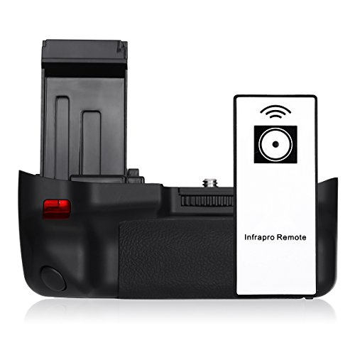 Powerextra Battery Grip For Canon EOS 100D/Rebel SL1 With Infrared Remote Control Work with LP-E12 Battery