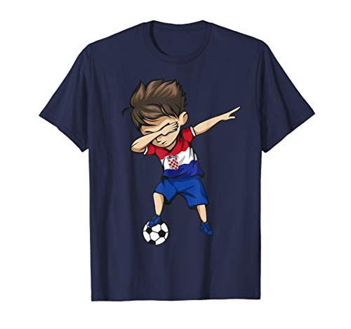 - Dabbing Soccer Boy Croatia Jersey Shirt - Croatian Football