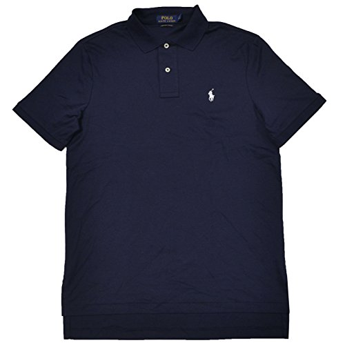 Polo Dry Pima - Polo Ralph Lauren Mens Pima Soft Touch Polo (Large, French Navy)