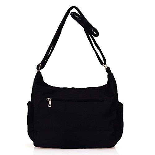 Nylon Women Corss Purse black Rock Pocket Bag Handbags Multi Volcanic Waterproof Shoulder Travel body for 8981 BzqawWA