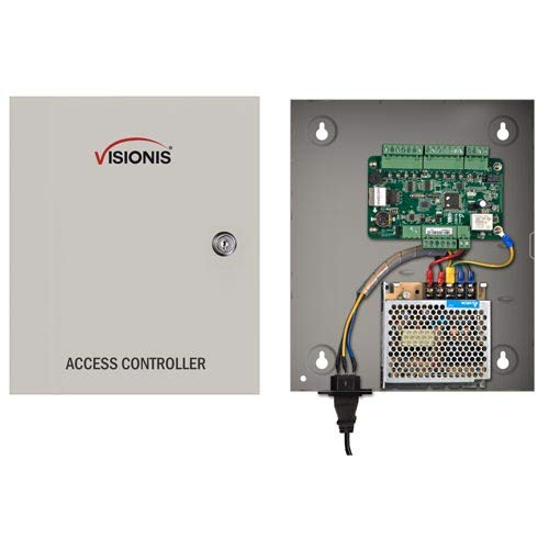 Visionis VS-AXESS-1ETL One Door Network Access Control Panel Controller Board with Cabinet TCP IP Wiegand with Desktop Software and Power Supply Included 10,000 Users