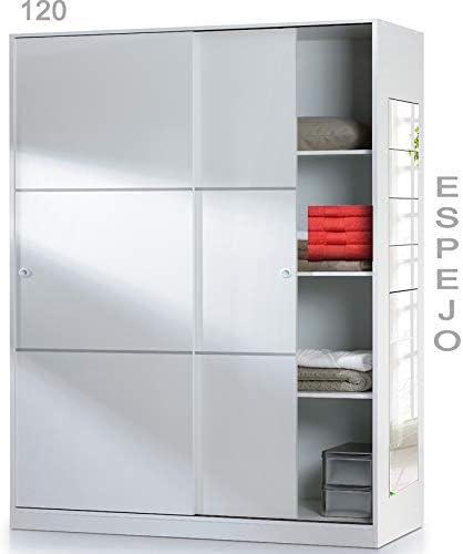 HABITMOBEL Armario Oficina con estantes de 204x120 Espejos Incluidos
