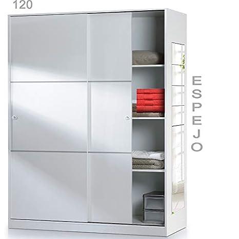 HABITMOBEL Armario Dormitorio de 120 con Espejo (Puede Colocar en ...