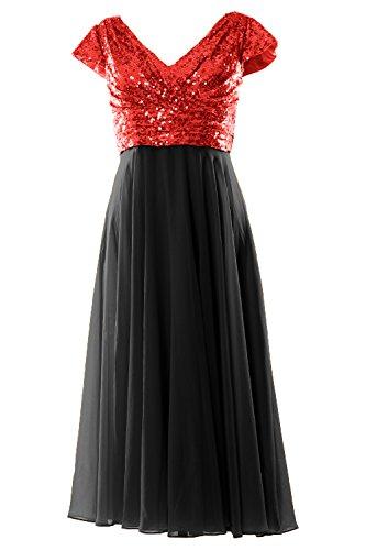Dress 2019 Mother Cap Length Of Red black Women Bridesmaid Macloth Tea Sleeve Bride xwaqICSX