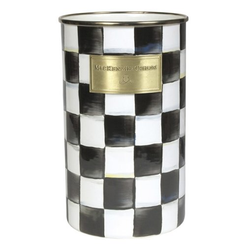 MacKenzie-Childs Courtly Check Enamel Utensil Holder by MacKenzie-Childs