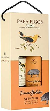 Vino Tinto Casa Ferreirinha Papa Figos (DOC Douro) + Vino Tinto Heredade Do Peso Trinca Bolotas (DOC Alentejo) - 2 botellas de 750 ml - Total: 1500 ml