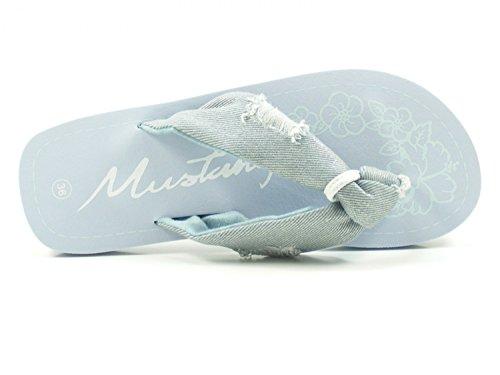Mode Cuir Mules 1243 705 Mustang Blau Femme gytvqyn