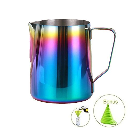 metal milk steaming pitcher - 8