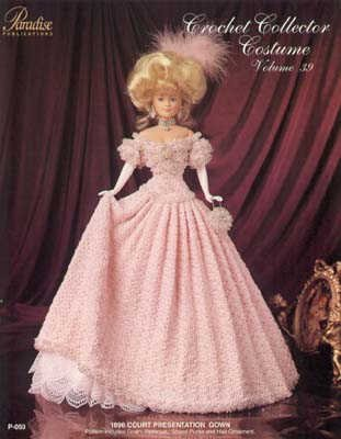 [Crochet Collector Costume Volume 39 1896 Court Presentation Gown] (Paradise Costumes Volume)